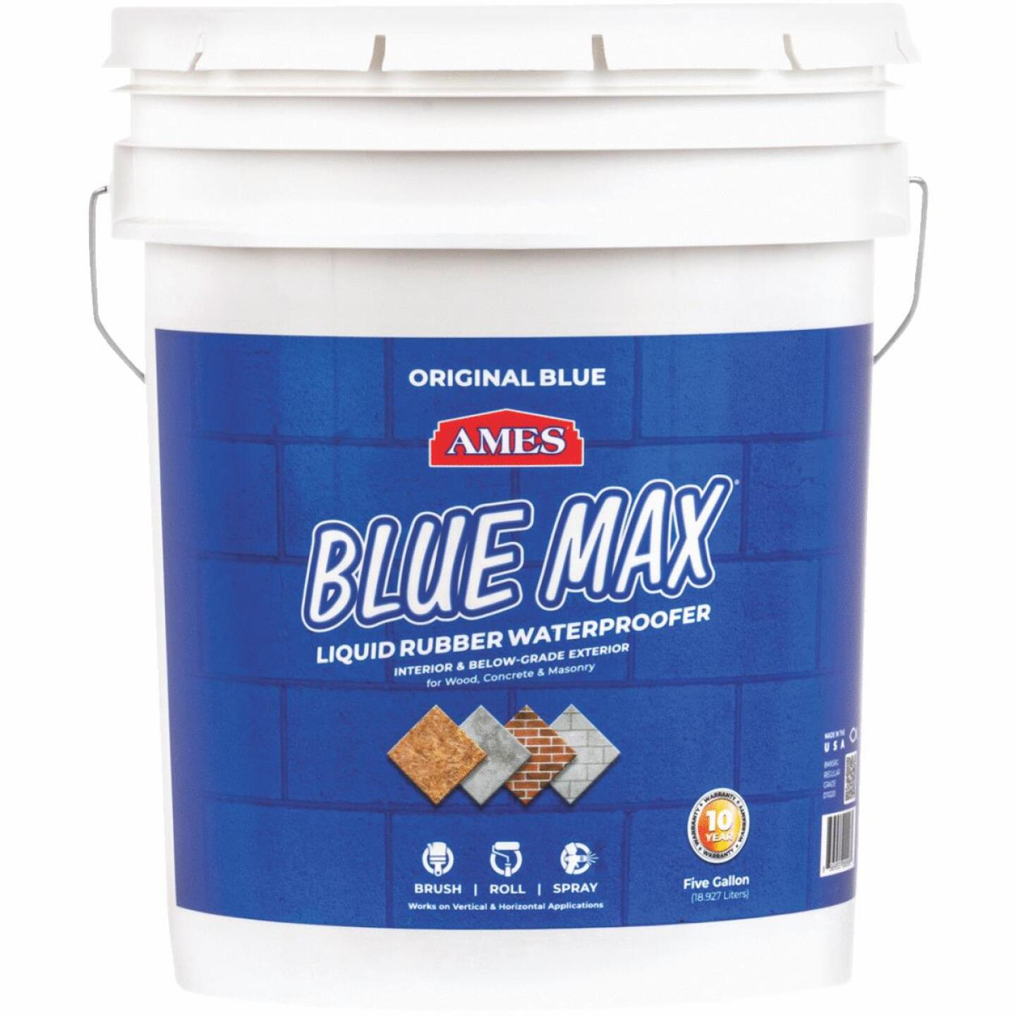 Ames Blue Max 5 Gal. Liquid Rubber Membrane Waterproofing Coating Image 1