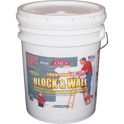 Ames Block & Wall 5 Gal. Liquid Rubber Membrane Basement Waterproofing Coating