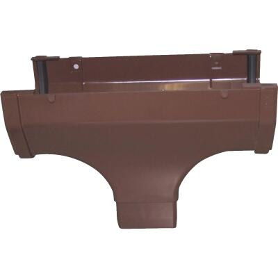 Raingo 5 In. Vinyl Brown Gutter Drop Outlet