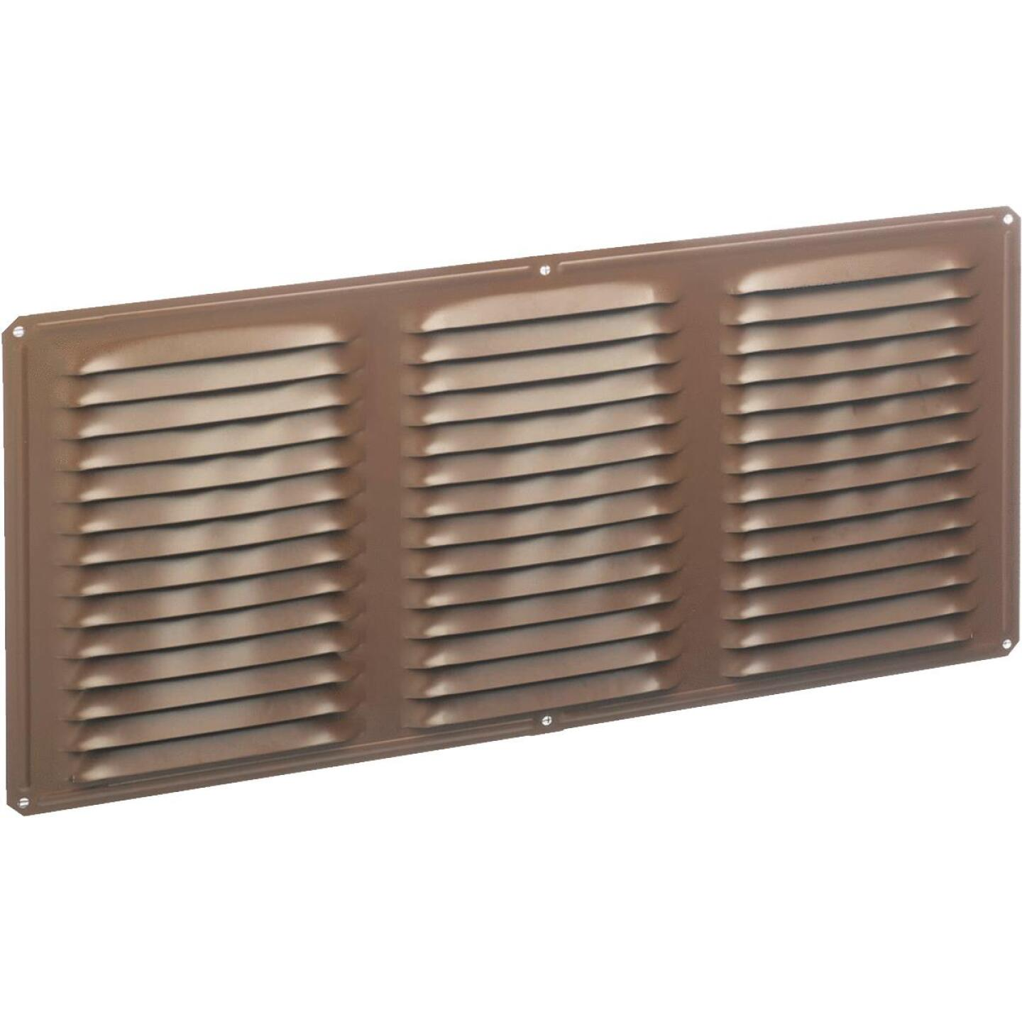 Air Vent 16 In. x 6 In. Brown Aluminum Under Eave Vent Image 1