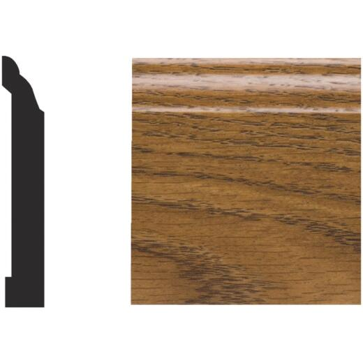 Royal 9/16 In. W. x 3-1/4 In. H. x 8 Ft. L. Highland Oak PVC Interior Colonial Base Molding
