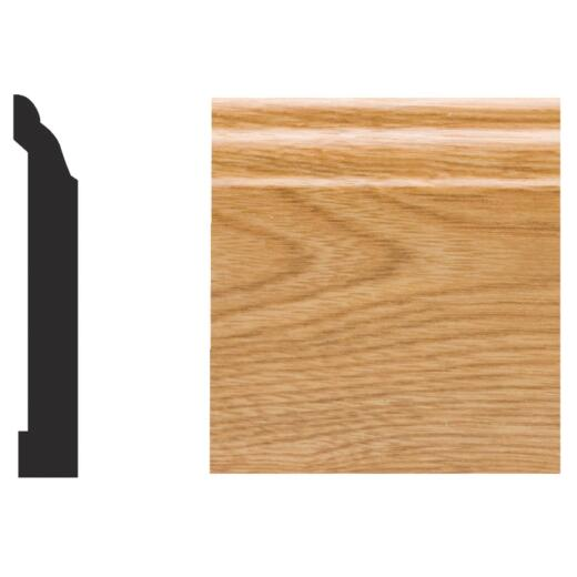 Royal 9/16 In. W. x 3-1/4 In. H. x 8 Ft. L. Imperial Oak PVC Interior Colonial Base Molding