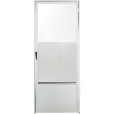 Croft Imperial Style 32 In. W. x 80 In. H. x 1-7/8 In. Thick White Self-Storing Aluminum Storm Door
