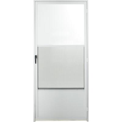 Croft Imperial Style 36 In. W. x 80 In. H. x 1-7/8 In. Thick White Self-Storing Aluminum Storm Door