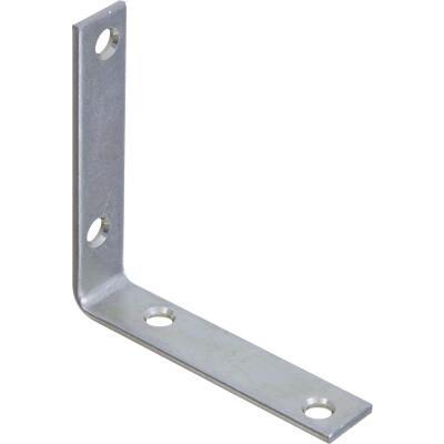 National Catalog 115 3-1/2 In. x 3/4 In. Zinc Corner Brace