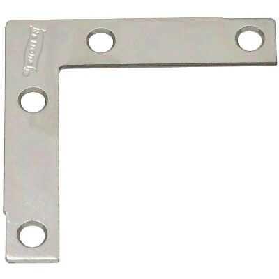 National Catalog 117 2-1/2 In. x 1/2 In. Zinc Flat Corner Iron (4-Count)