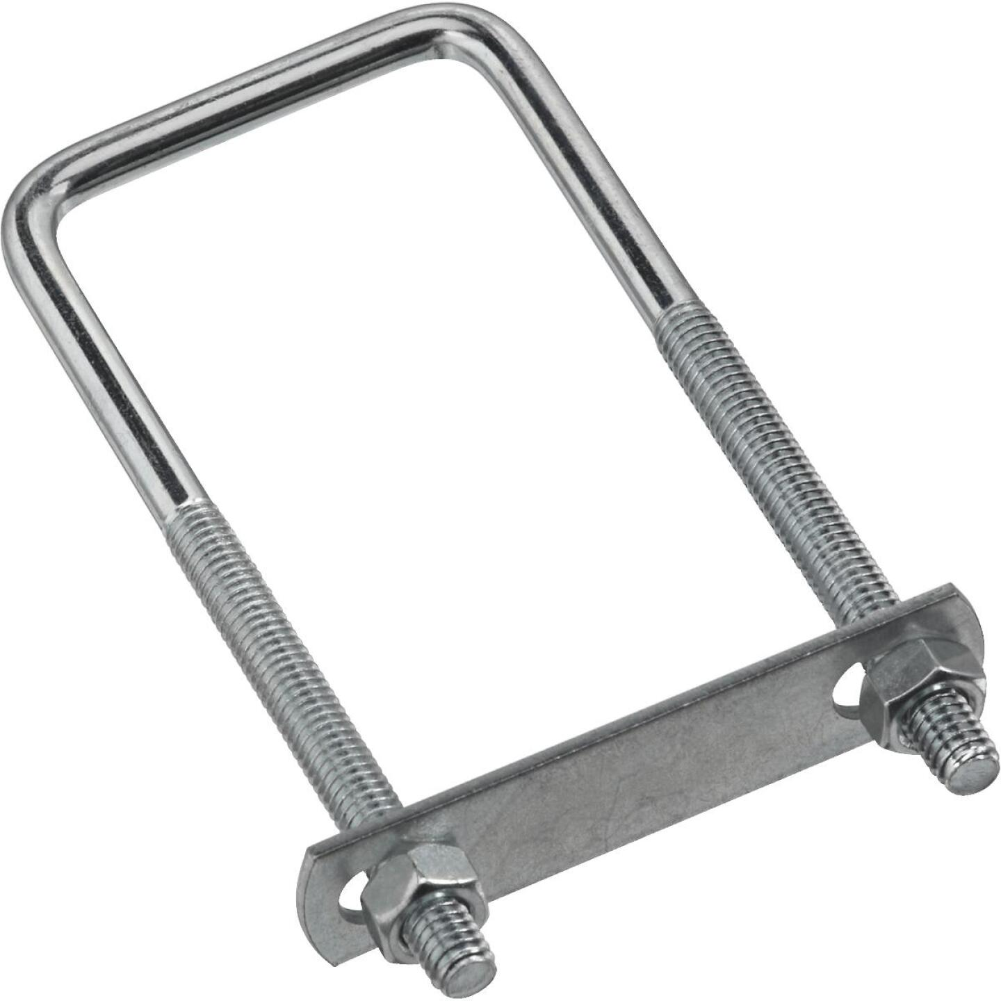 National 5/16 In. x 2 In. x 5 In. Zinc Square U Bolt Image 1