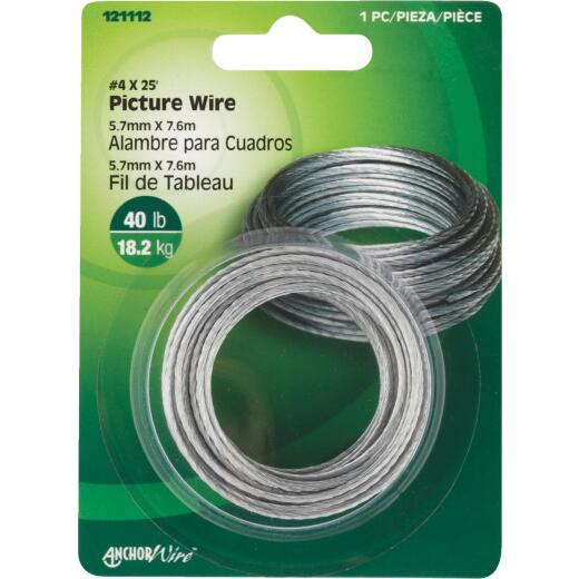 Hillman Anchor Wire 40 Lb. Capacity 25 Ft. Picture Wire