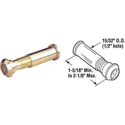 Defender Security Solid Brass 1/2 In. Hole Door Viewer