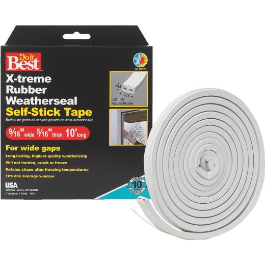 Do it Best 9/16 In. x 10 Ft. White Wide Weatherseal Tape