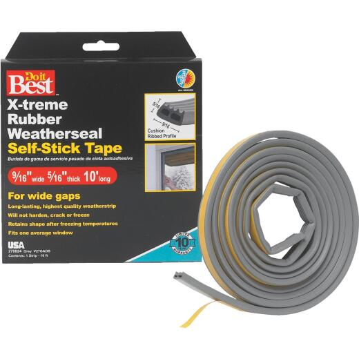 Do it Best 9/16 In. x 10 Ft. Gray Wide Weatherseal Tape