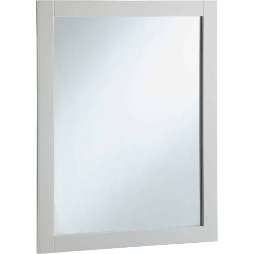 Design House Shorewood White 24 In. W x 30 In. H Vanity Mirror