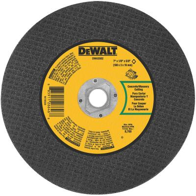 DeWalt Type 1 7 In. x 1/8 In. x 5/8 In. Masonry Cut-Off Wheel
