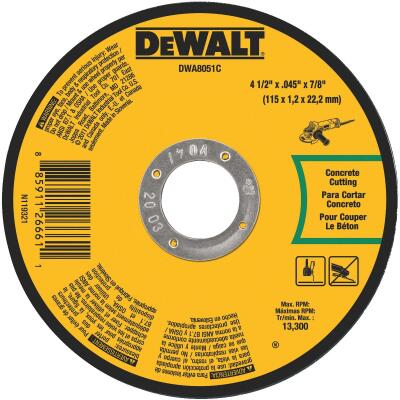 DeWalt Type 1 4-1/2 In. x 0.045 In. x 7/8 In. Masonry Cut-Off Wheel