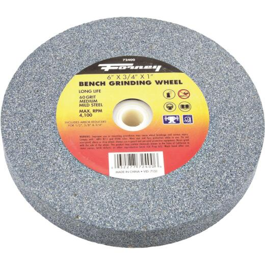 """Forney 6 In. 3/4 In. Adjustable - 1/2"""", 5/8"""", 3/4"""", 1"""" Bench Grinding Wheel"""