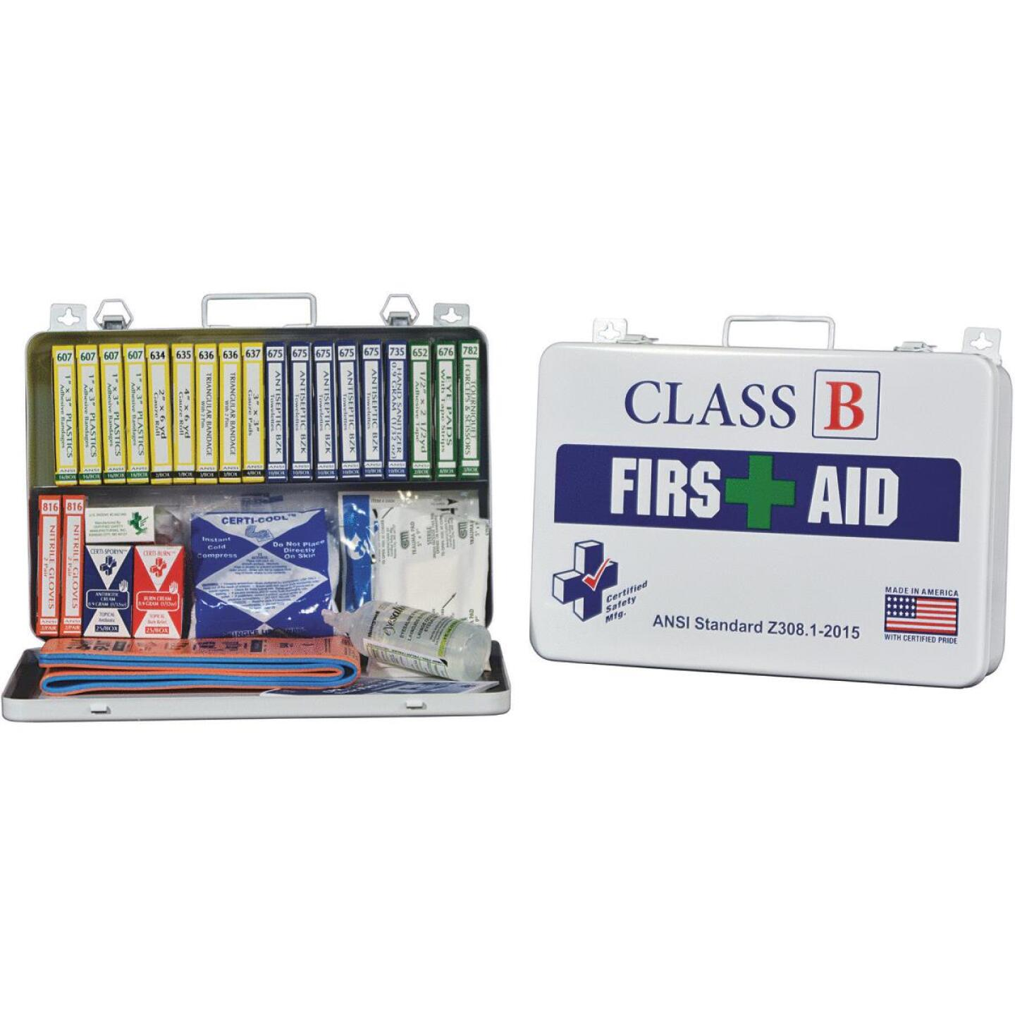 Certified Safety Class B ANSI & OSHA Certified First Aid Kit (117-Piece) Image 1