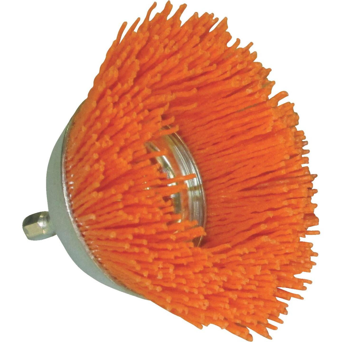 Dico Nylox 2-1/2 In. Coarse Drill-Mounted Wire Brush Image 1