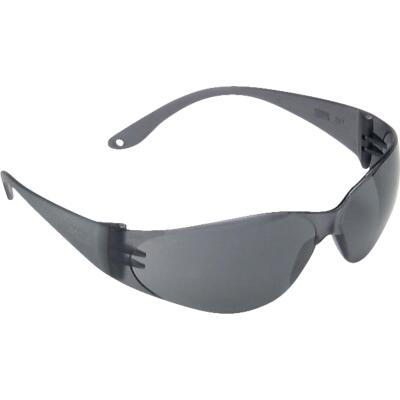 Safety Works Close Fitting Black Frame Safety Glasses with Anti-Fog Gray Lenses