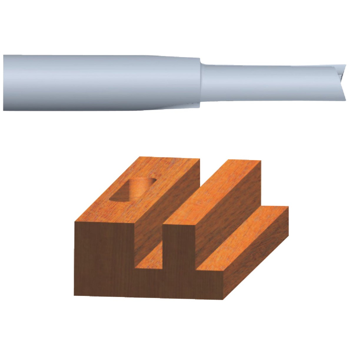 Vermont American Carbide Tip 3/16 In. Straight Bit Image 1