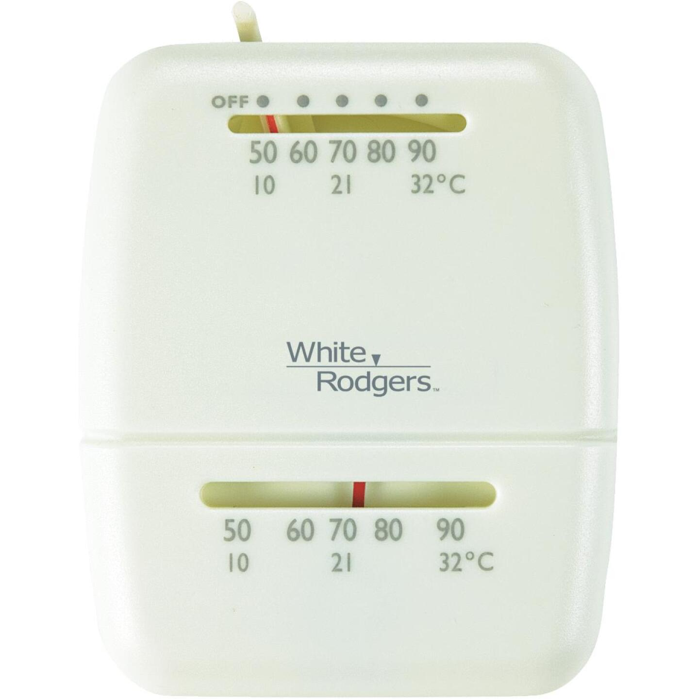 White Rodgers 24V Off-White Mechanical Thermostat Image 1