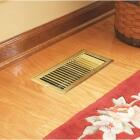 Home Impressions 4 In. x 10 In. Bright Brass Steel Floor Register Image 2