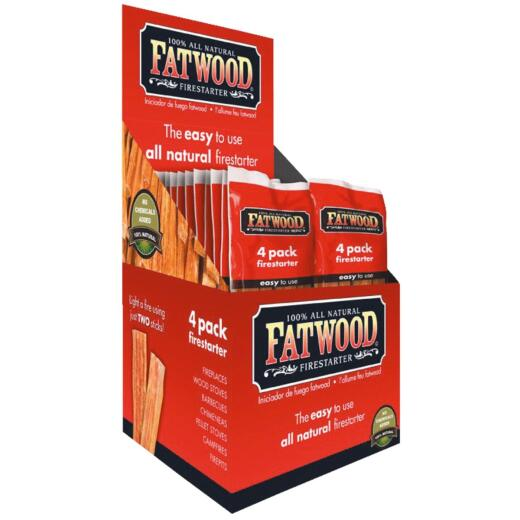 Fatwood Fire Starter, (26-Pack) Display Box