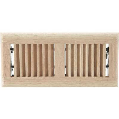 Home Impressions 4 In. x 10 In. Natural Oak Floor Register