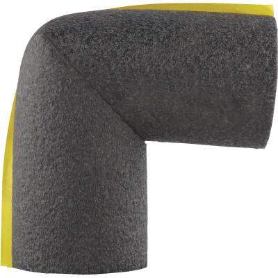 Tundra 3/8 In. Wall Self-Sealing Polyethylene Elbow Pipe Insulation Wrap, 1 In.