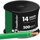 Southwire 500 Ft. 14 AWG Solid Green THHN Wire Image 1