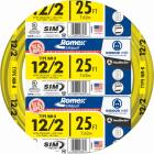 Romex 25 Ft. 12-2 Solid Yellow NMW/G Wire Image 1
