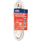 Do it Best 9 Ft. 16/2 White Cube Tap Extension Cord Image 1