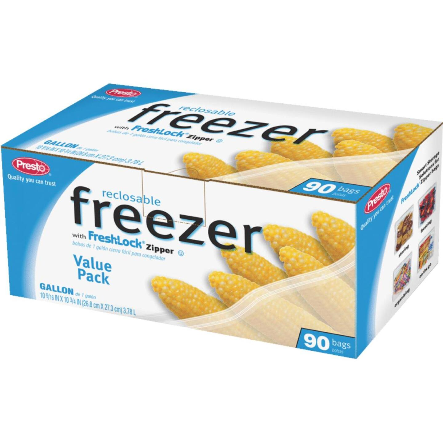 Presto 1 Gal. Reclosable Freezer Bag (90 Count) Image 1