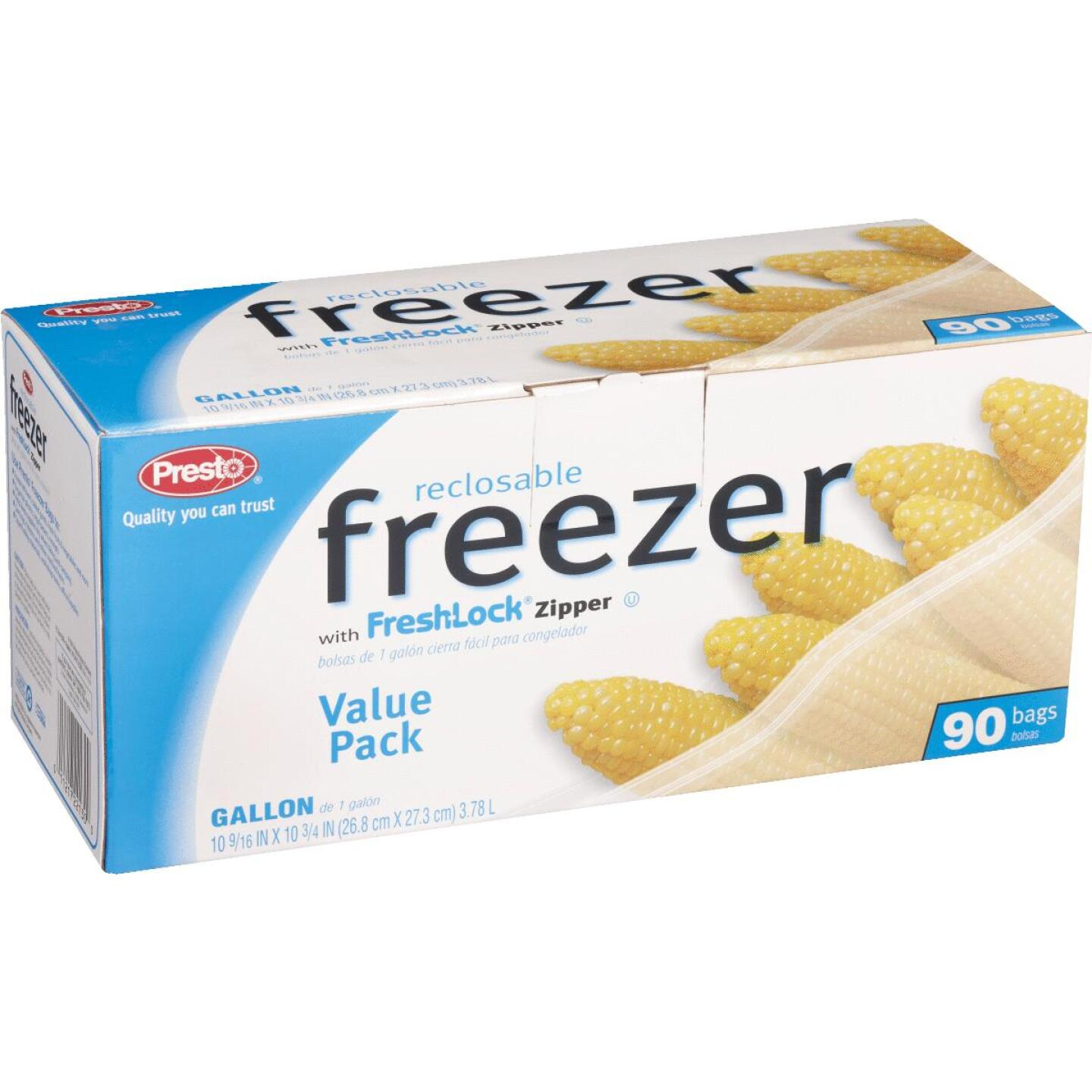 Presto 1 Gal. Reclosable Freezer Bag (90 Count) Image 3