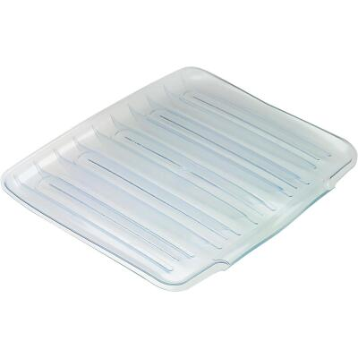 Rubbermaid 14.38 In. x 15.38 In. Clear Sloped Drainer Tray