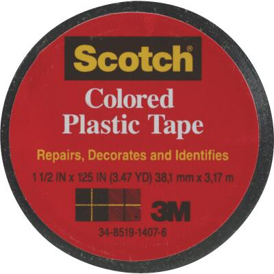 Scotch 1-1/2 In. Black Colored Plastic Tape