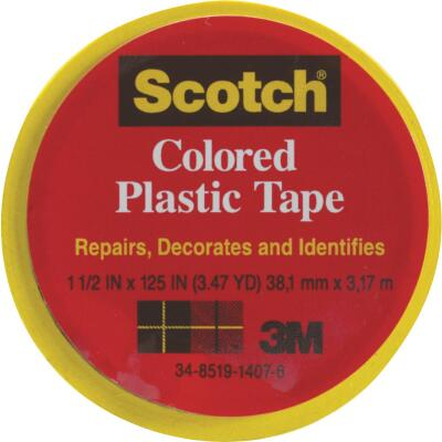 Scotch 1-1/2 In. Yellow Colored Plastic Tape