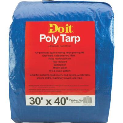 Do it Blue Woven 30 Ft. x 40 Ft. Medium Duty Poly Tarp