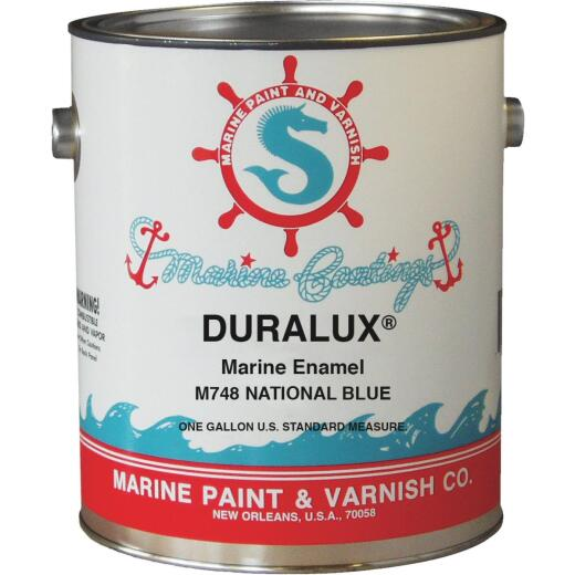 DURALUX Gloss Marine Enamel, National Blue, 1 Gal.