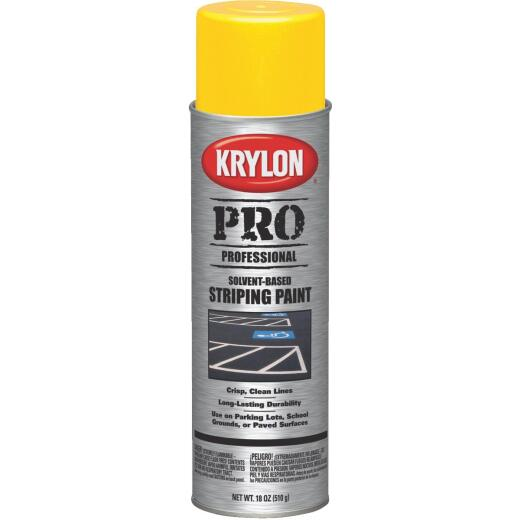 Krylon Highway Yellow 18 Oz. Professional Striping Paint