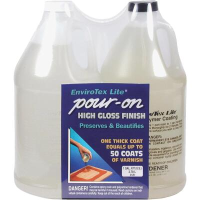 Envirotex Lite Pour-On 1 Gal. Kit High-Gloss Finish