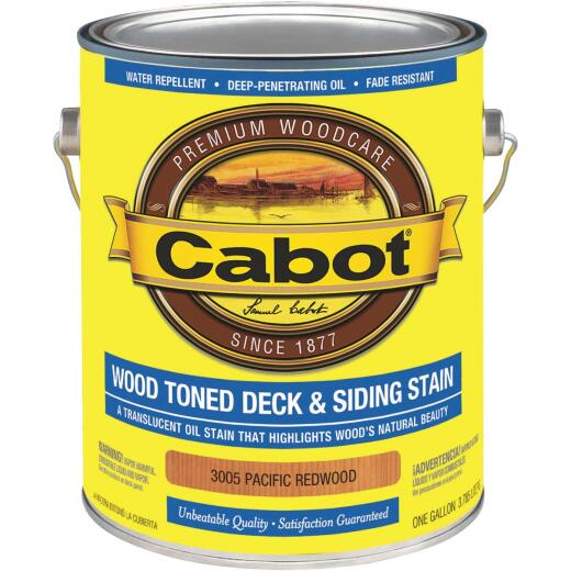 Cabot Alkyd/Oil Base Wood Toned Deck & Siding Stain, Pacific Redwood, 1 Gal.