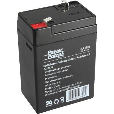 Interstate All Battery Power Patrol 6V 4.5A Security System Battery
