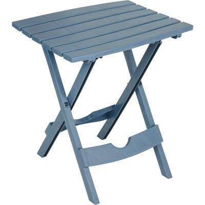 Adams Quik-Fold Bluestone 15 In. x 17.5 In. Rectangle Resin Folding Side Table