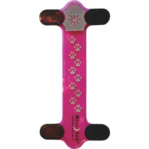 Nite Ize Nite Dawg Light-Up Cover 6-3/4 In. Pink Urethane Dog Collar