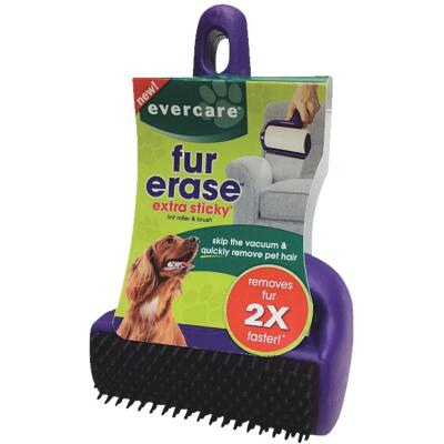 Evercare Fur Erase 4 In. Roller with Brush Pet Hair Remover