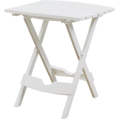 Adams Quik-Fold White 15 In. x 17.5 In. Rectangle Resin Folding Side Table